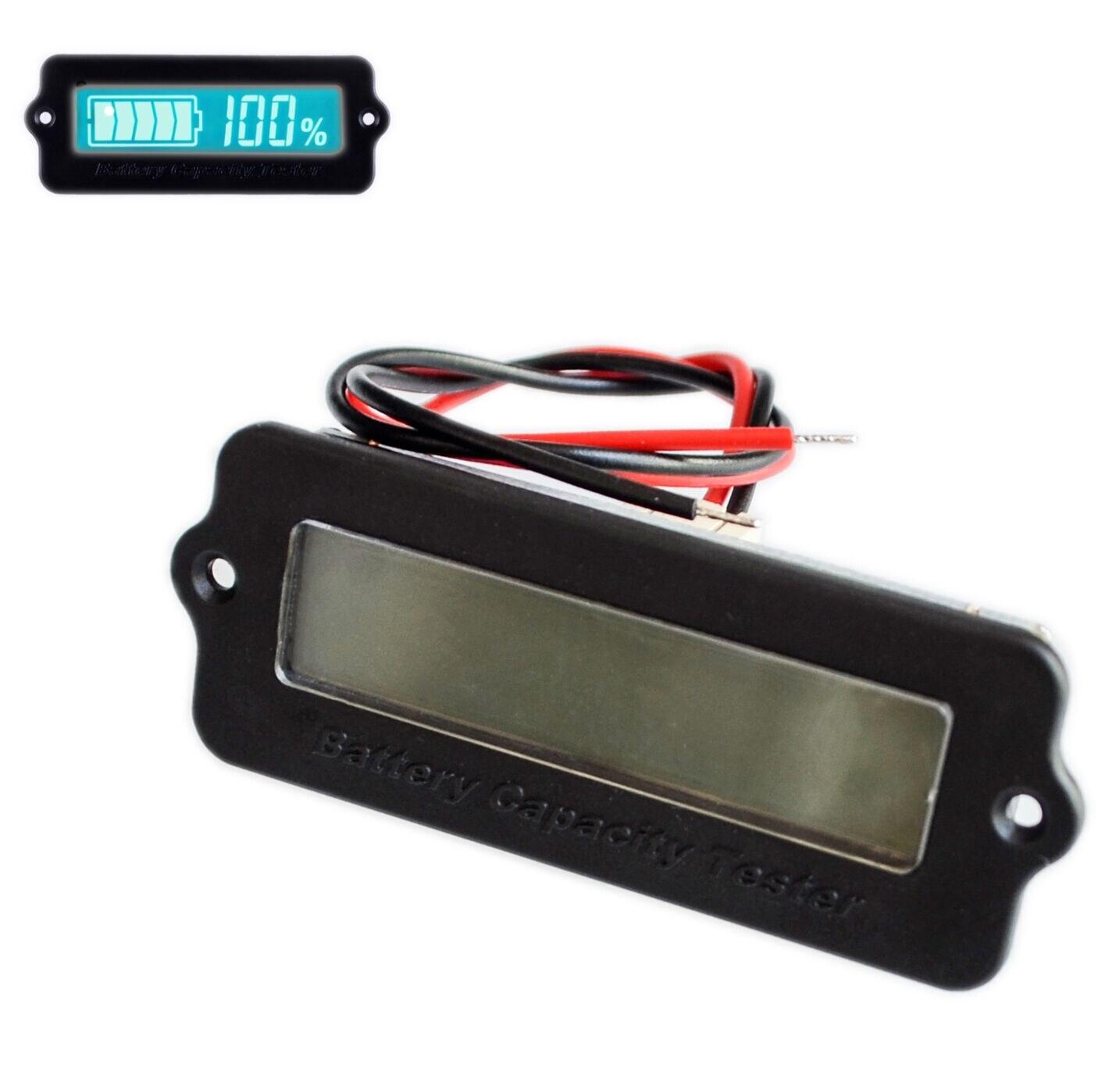 Azul 12 V LY6W Indicador Da Capacidade Da Bateria de Chumbo Ácido Dígitos Display LCD Detector Tester Voltímetro Medidor de Energia Da Bateria De Lítio