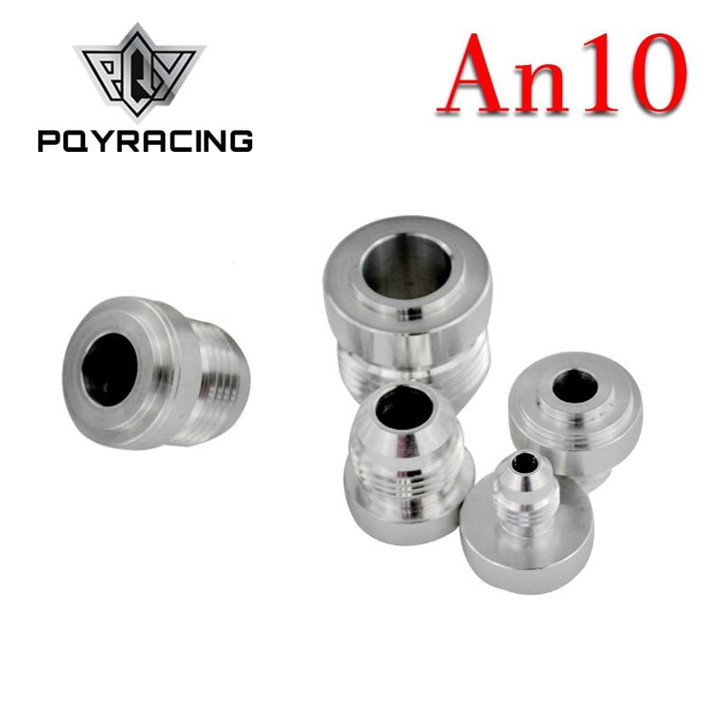 PQY - 4 unids/pack, adaptador de ajuste de soldadura macho y recto de AN10-AN de aluminio de alta calidad, montaje de manguera de Bung Nitrous plateado