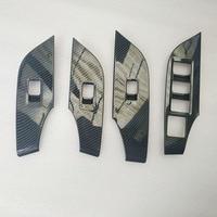 for toyota rav4 rav 4 xa50 2019 2020 accessories parts Car Interior Door Window Lift Regulator Cover Trim plastic carbon fiber