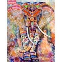 Peinture diamant theme  elephant de couleur   broderie complete 5D  perles rondes ou carrees  points de croix  a bricolage-meme  decoration dinterieur  cadeau