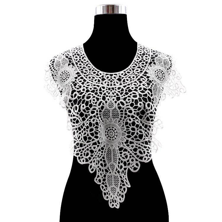 Exquisite Hohl Spitze Kragen Garnituren Stickerei Nähen Patch Applique Floral Spitze Kleid Guipure Verzierungen DIY Sewing Versorgung