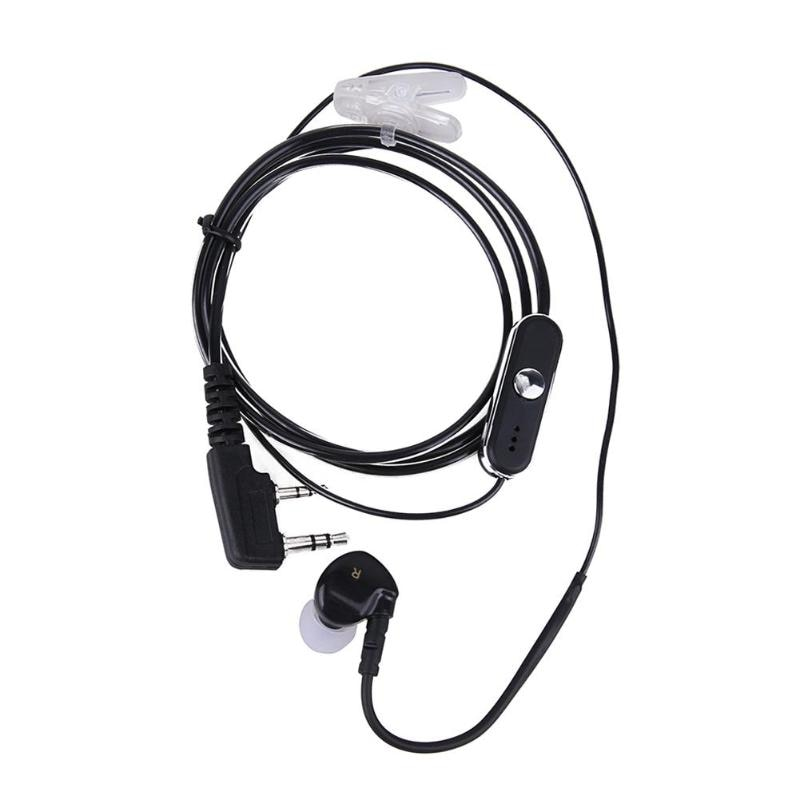 Alloet 2pin esportes fone de ouvido fone de ouvido bud com microfone ptt para baofeng retevis rádios para kenwood kpg/puxing/quansheng/linton