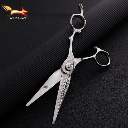 Профессиональные ножницы для волос KUMIHO, ножницы для волос 6,25 дюймов с Дамасским узором, высокая твердость, Япония 440C, прямые поставки с фабрики