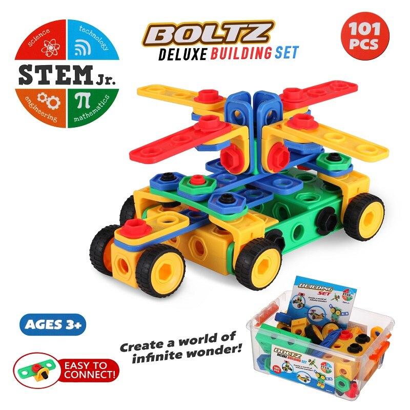 Juego de 101 piezas de juegos creativos, diversión, actividad, juguetes de vástago, construcción educativa, construcción, construcción, bloques de aprendizaje, los mejores juguetes