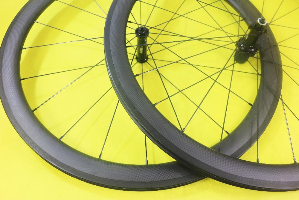 Super luz 50mm tubular bicicleta de carretera juego de ruedas de carbono 20H 24H 21 incluso agujeros Toray T700 La carbone de carreras de ruedas de bicicleta