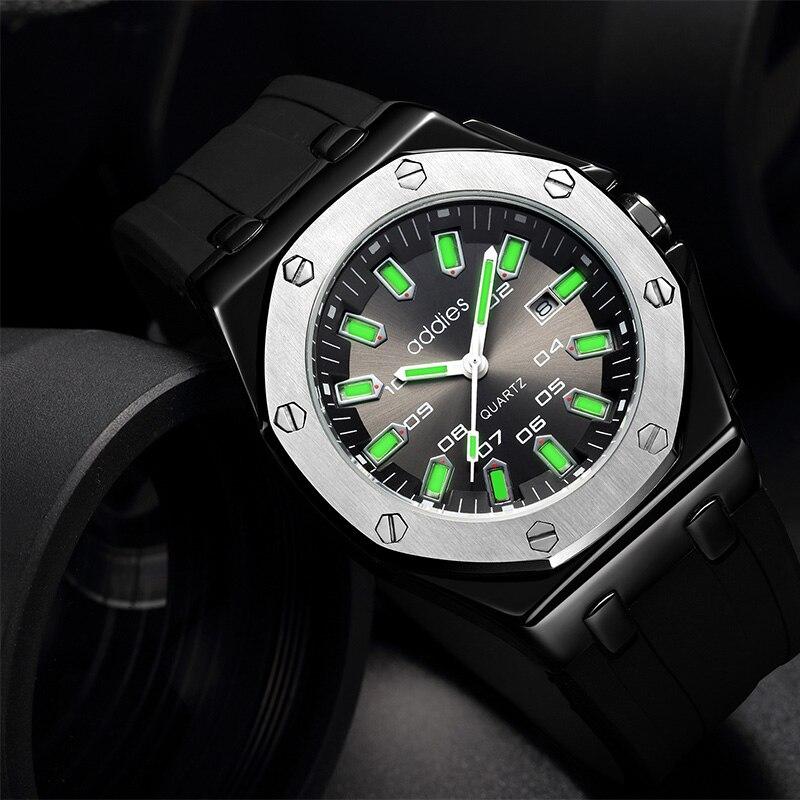 Addies 2020 mens watches top brand luxury Cold Luminous 30M Waterproof Business wristwatch mens Clock Male Fashion Sports Watch