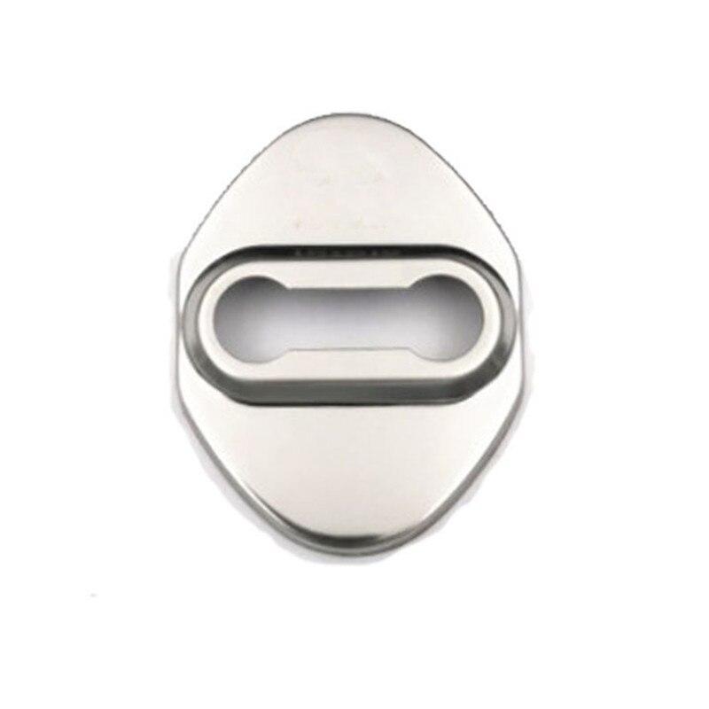 Ajuste para Toyota Camry Highlander Corolla C-HR RAV4 HIACE Aygo, cubierta de cerradura de puerta, tapas protectoras de acero inoxidable para Estilismo de coche