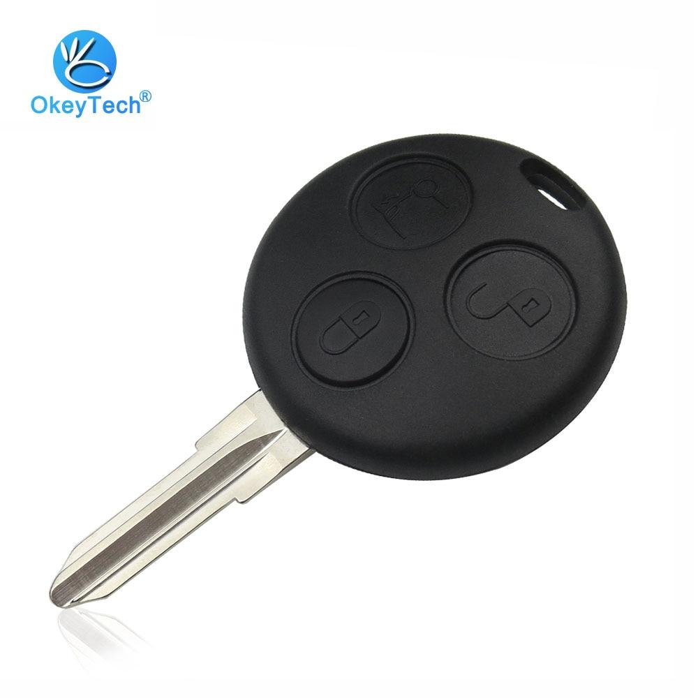 OkeyTech 3 кнопочный дистанционный Чехол для автомобильного ключа чехол Fob для Mercedes Benz ключ Smart Fortwo 450 Forfour Roadster Chiave