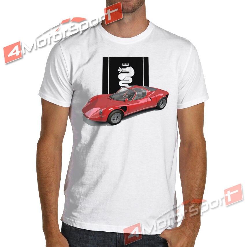 ¡Novedad de 2019! Camiseta fresca de verano para carreras de coches italianos 33 Stradale, camiseta de carreras Tipo Nurburgring, Camiseta de algodón