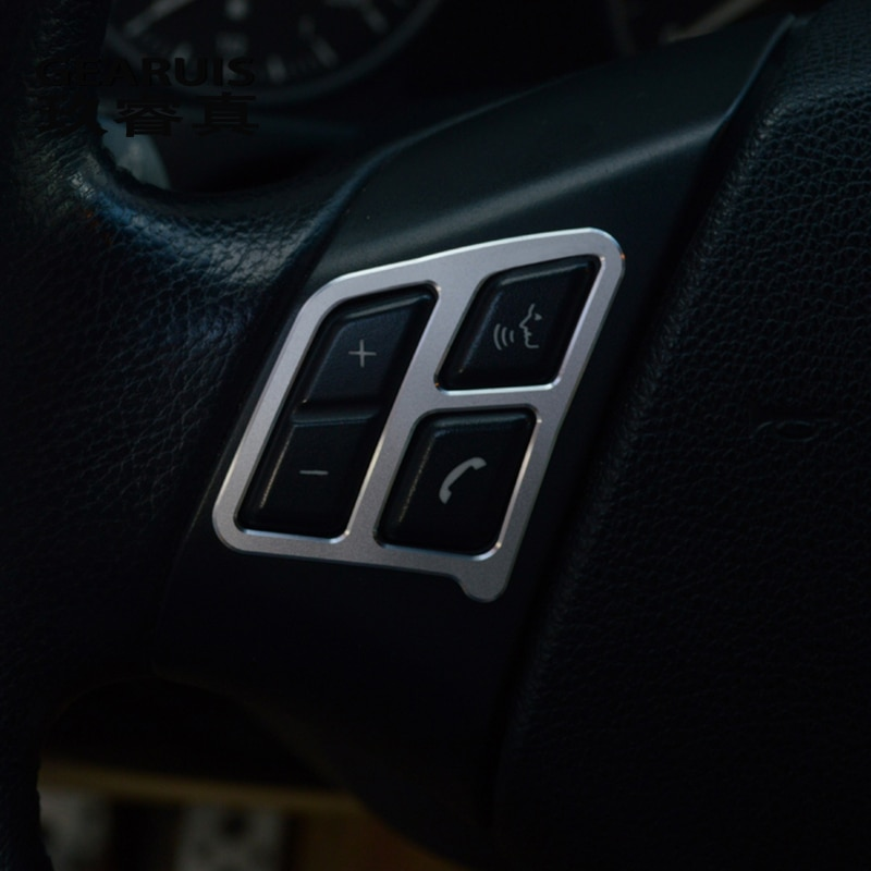 Para BMW e90 Car Styling Botón de volante cubierta Trim volante pegatina Interior auto accesorios de acero inoxidable refit