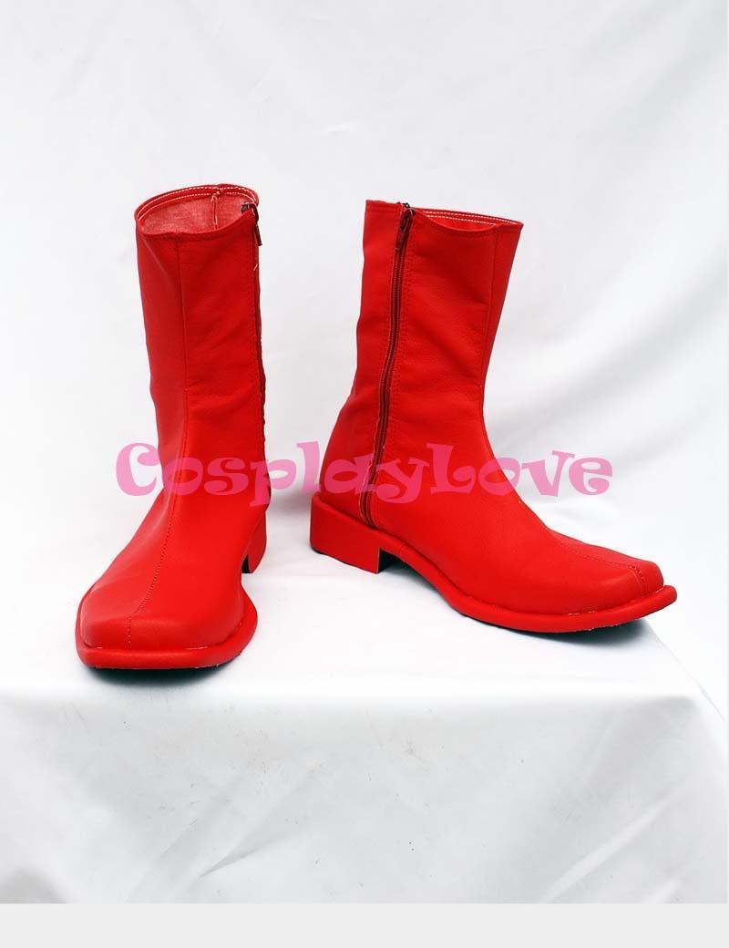 Обувь для костюмированной вечеринки Ultraman Seven X Red; Обувь на заказ для Хэллоуина; Рождественский фестиваль; Обувь для костюмированной вечерин...