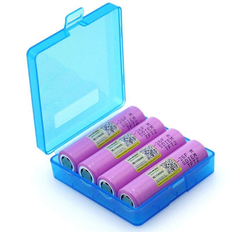 Liitokala 4 шт. новый оригинальный 3,7 В 18650 ICR18650-26F 2600 мАч литий-ионный аккумулятор для ноутбука батарея подходит для фонарика + коробка