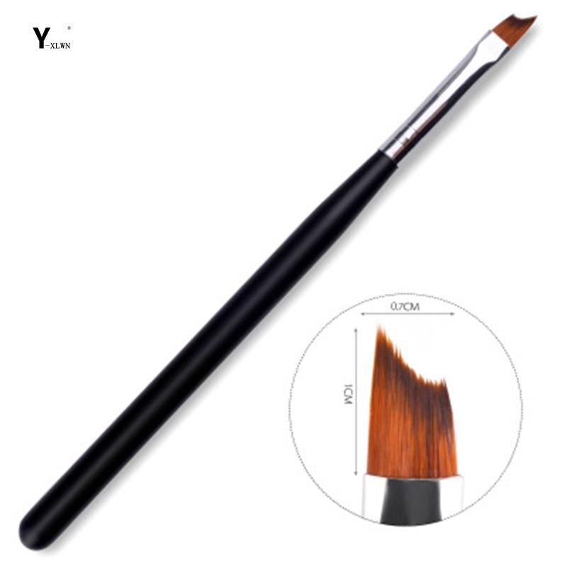 Y-XLWN especialmente utilizado para pintar bolígrafos media luna gran cuchillo brocha luz terapia una pluma de terapia de luz francesa barra negra