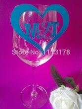 Marqueurs de Table en verre à vin   100 pièces, cartes de Place et de nom de verre, cartes de table de mariage personnalisées, verre à vin, markerspc001, livraison gratuite