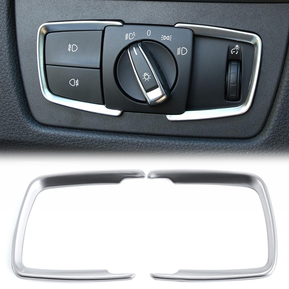 VCiiC ABS Chrome Headlight Switch Frame Trim Adjustment Circle Sticker For BMW F30 F31 F32 F34 3 4 Series 320 328 Accessories