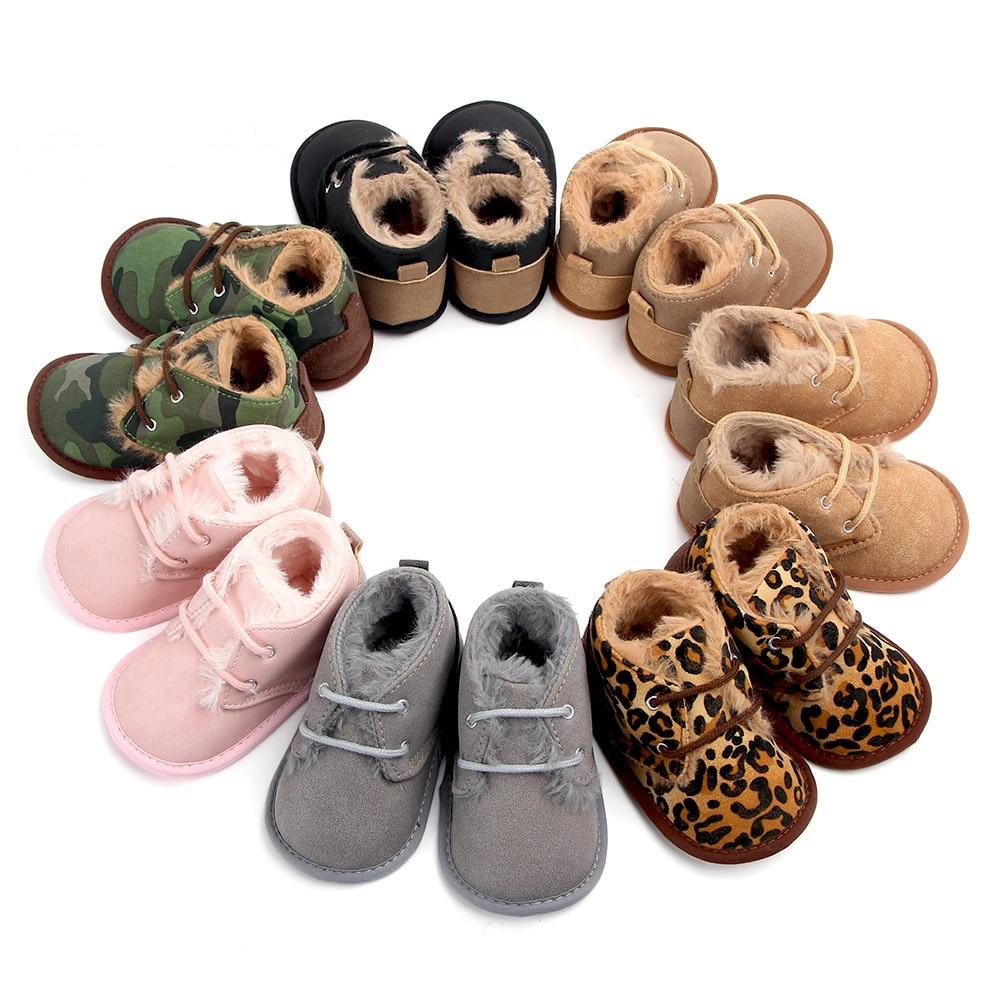 Зимняя Теплая обувь для мальчиков и девочек, кроссовки для начинающих ходить, обувь для новорожденных, 2020