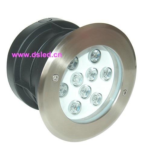 good quality,Stainless steel,high power 9W LED burried light,LED spotlight,DS-11S-17-9W,9X1W,12VDC,110-250VAC,IP67
