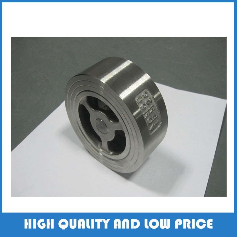 304 material dn125 china baixo preço H71W-16P wafer válvula de verificação