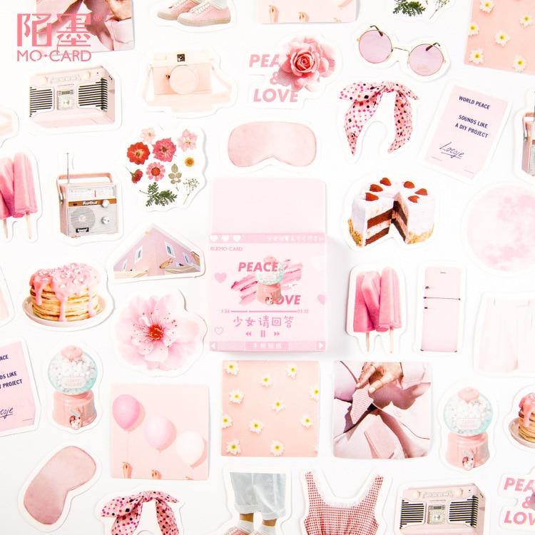Menina por favor responder decorativo papelaria adesivos scrapbooking diy diário álbum vara lable