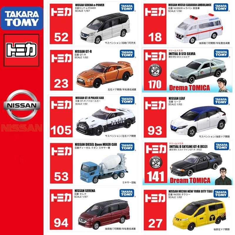 Takara Tomy TOMICA de nissan GTR nota NV200 X-trail Serena Skyline Gt-r justo LadyZ Roadstar Nv350 de fundición de juguete