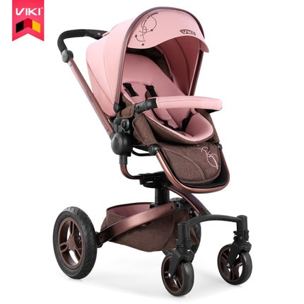 Коляска VIKI 2 в 1, детская складная коляска на четыре колеса с поворотом на 360 градусов