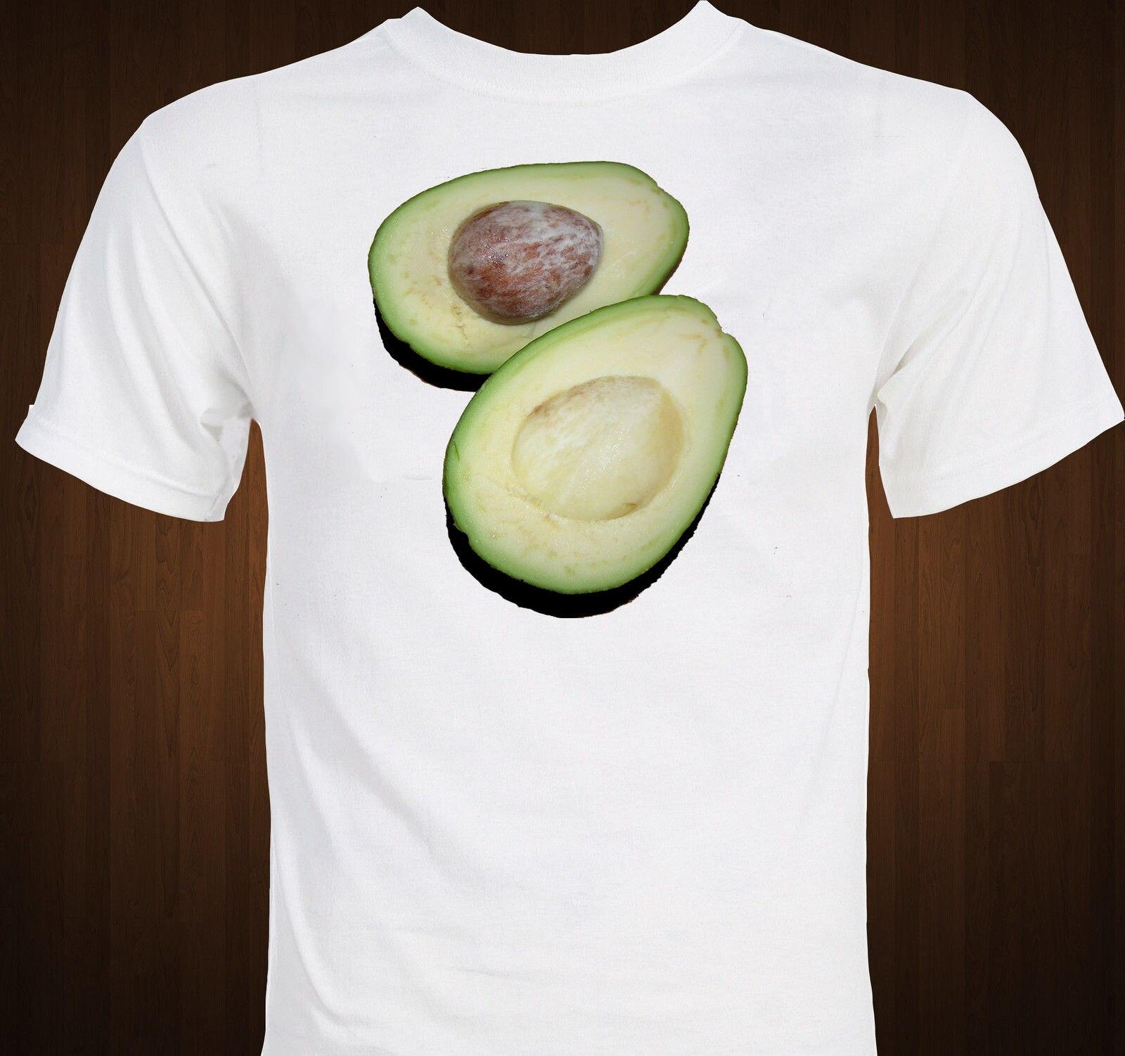 2019 Novos Homens Camisas de Manga Curta T Delicioso Saúde Alimentar-Verde Deliciosa Fruta Abacate-Mmm Healthyshirt Design do Site