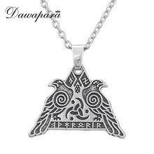 Dawapara Odin S Kraai Valknut Kettingen Supernatural Viking Sieraden Mannen Charmes Religieuze Hangers Christmas Gift