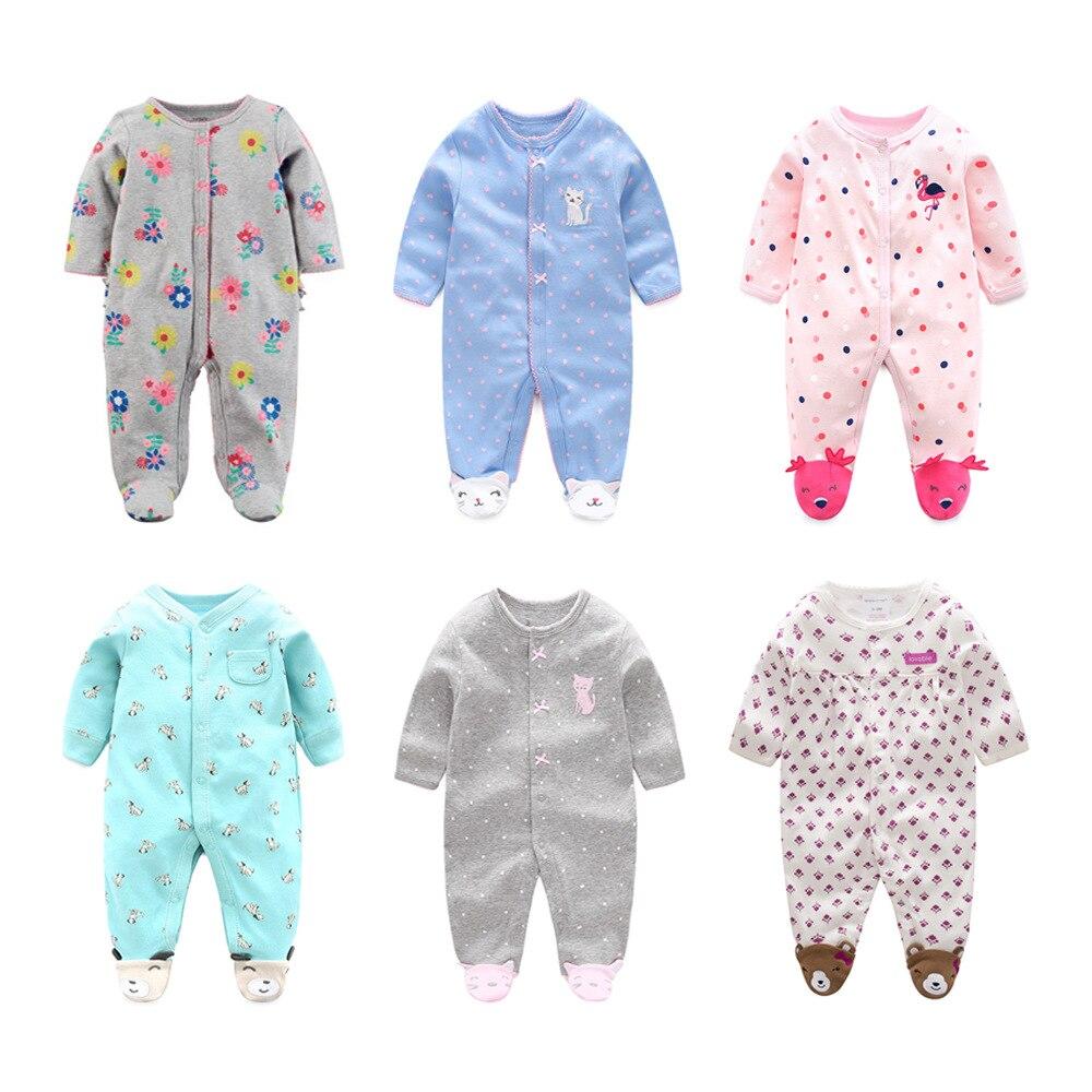 Pijamas infantis, pijamas de bebê, pijamas para meninos, macacões, roupas de inverno para recém-nascidos de algodão, roupas para meninas de 3m a 12m m m