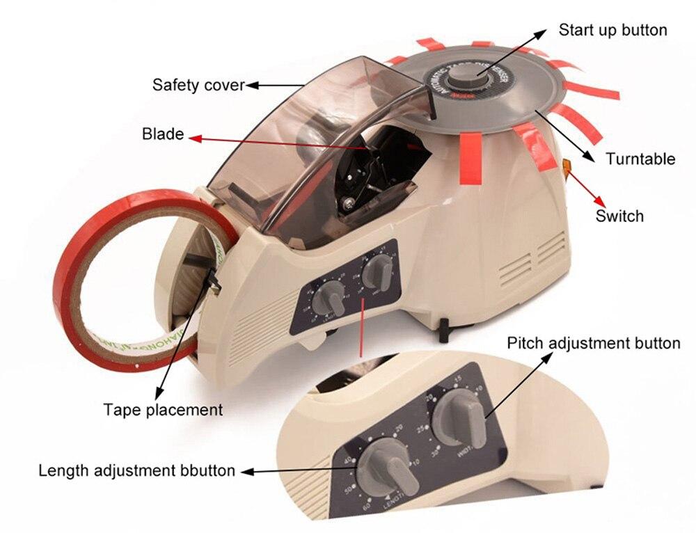 Knokoo электрическая карусель Клейкая Лента Диспенсер RT-3000 для медной фольги хлопок и пластик ленты резак