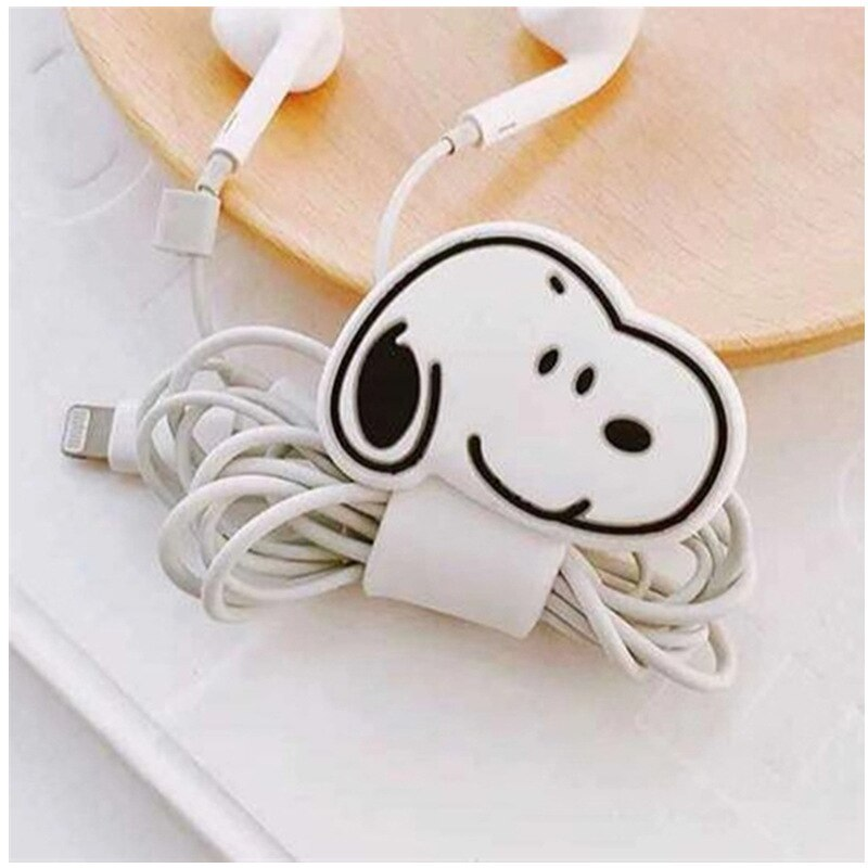 Cute silicone cartoon winder cartoon earphone winding buckle curved data line winder animal hub wire Cable tie