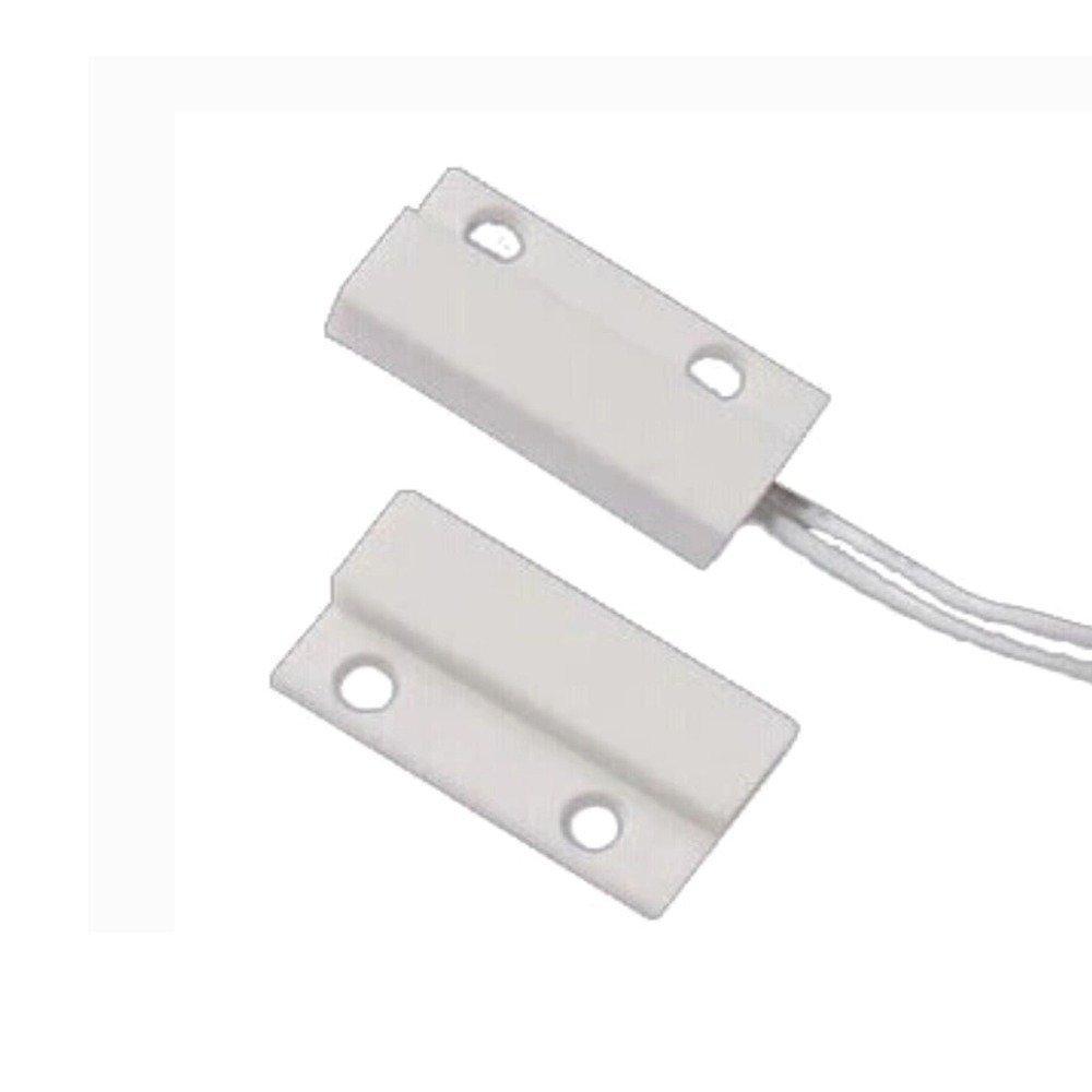 (20 uds) interruptor de lámpara de pecho con Sensor magnético de plástico con cable, puerta, ventana, detector NC, relé de salida, accesorios de alarma