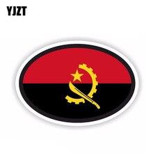 YJZT 15.2CM*10.1CM Car Styling Angola Oval Flag Window Car Sticker Accessories 6-1684