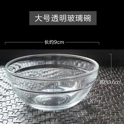 Accesorios de fotografía para salón de belleza, máscara de cuenco de cristal transparente, 9x3,6 cm
