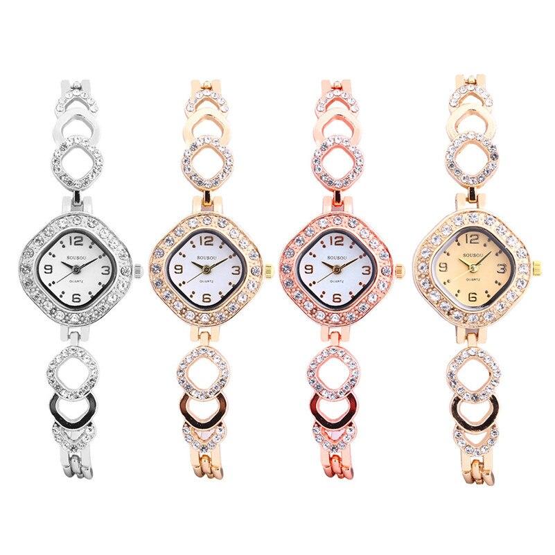 Moda moderna relógios de cristal feminino vestido de luxo quartzo relógio de pulso strass aço inoxidável relógio pulseira montre femme/c