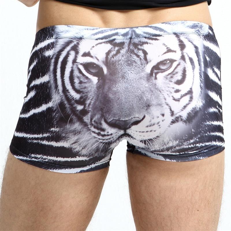Eis seide atmungsaktive unterwäsche mann boxer tiger
