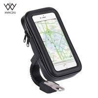 מחזיק טלפון סלולרי עמיד למים אופנוע אופנוע קטנוע תיק מקרה אוניברסלי אופני טלפון מחזיק Stand תמיכה 4.7-6.3 אינץ