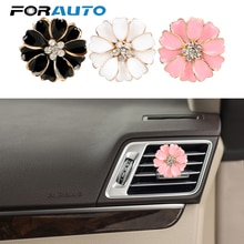 FORAUTO accessoires dintérieur sortie automatique parfum parfumé pince voiture-style voiture désodorisant fleur forme solide parfum