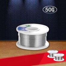 0.8mm 63/37 étain plomb colophane noyau fil à souder soudure Flux 50g fer pour soudeur 2% bobine à souder fil de soudage