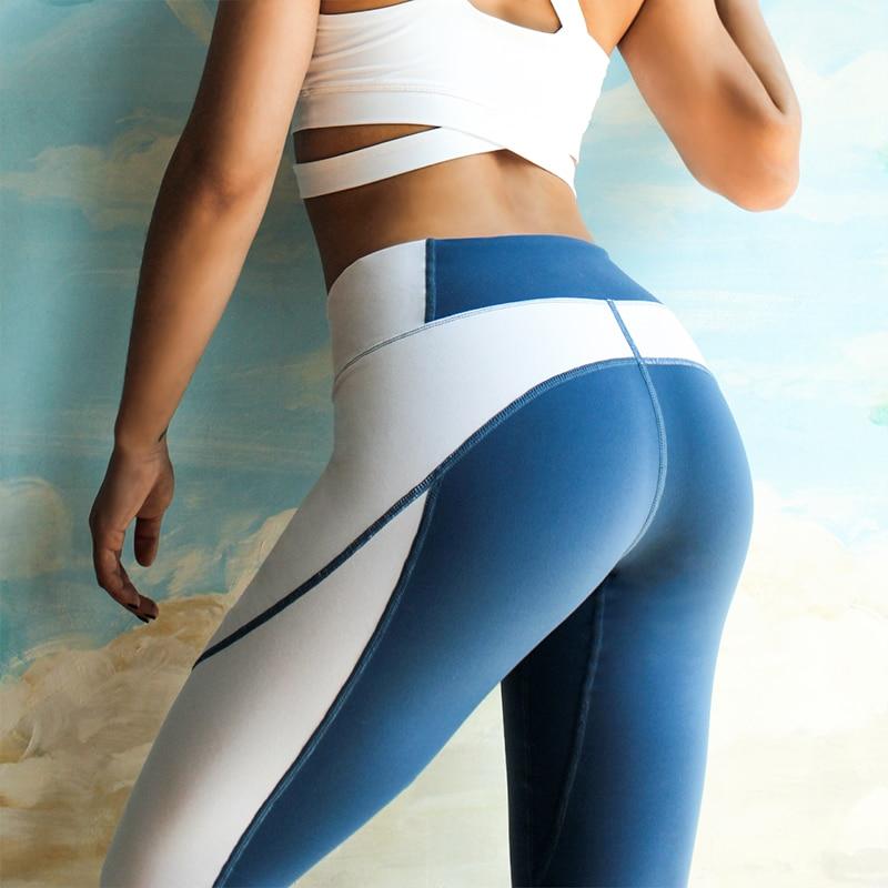 Duttedutta High Stretchy Yoga Pants for Women Patchwork Fitness Running Sport Leggings High Waist Tights Push Up Sports Pants