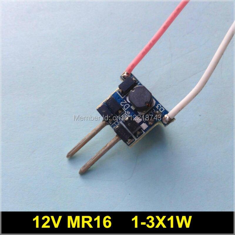 10 шт./лот, светодиодный драйвер MR16 12 В 1-3X1W, 1 Вт 3 Вт IC 6807, блок питания для трансформатора 1x1 Вт 3x1 Вт 12 в 280 мА, постоянный ток