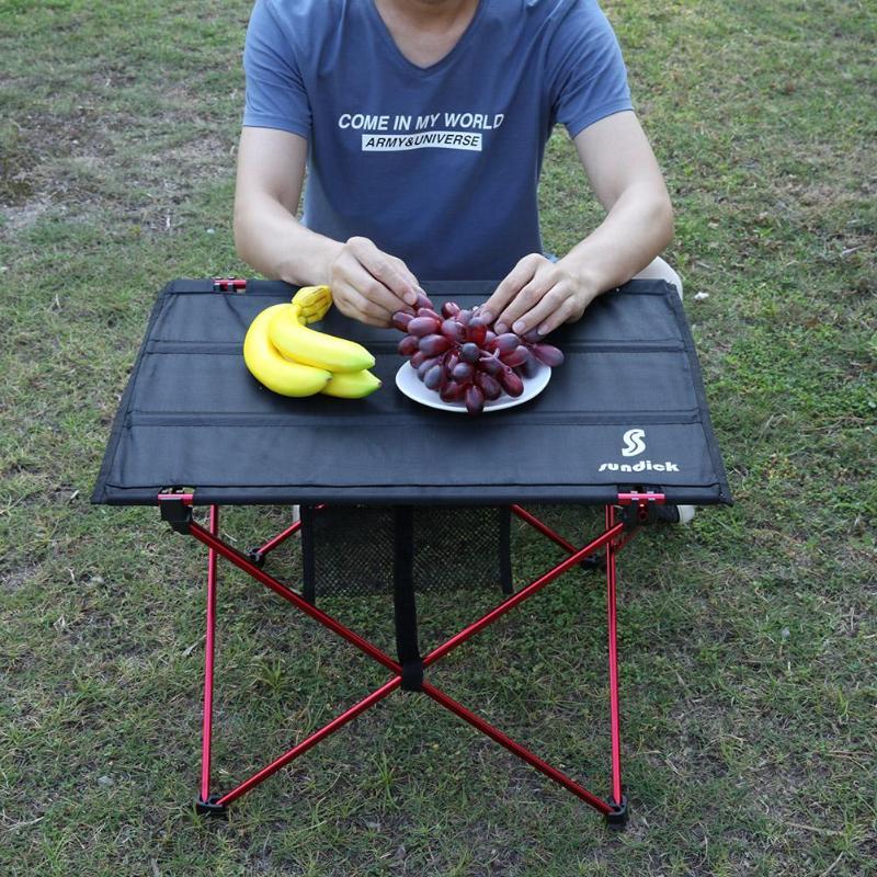 Mesa plegable portátil, mesa plegable para Camping, mesa de Picnic para viajar al aire libre, mesa de aleación de aluminio, mesa turística para barbacoa