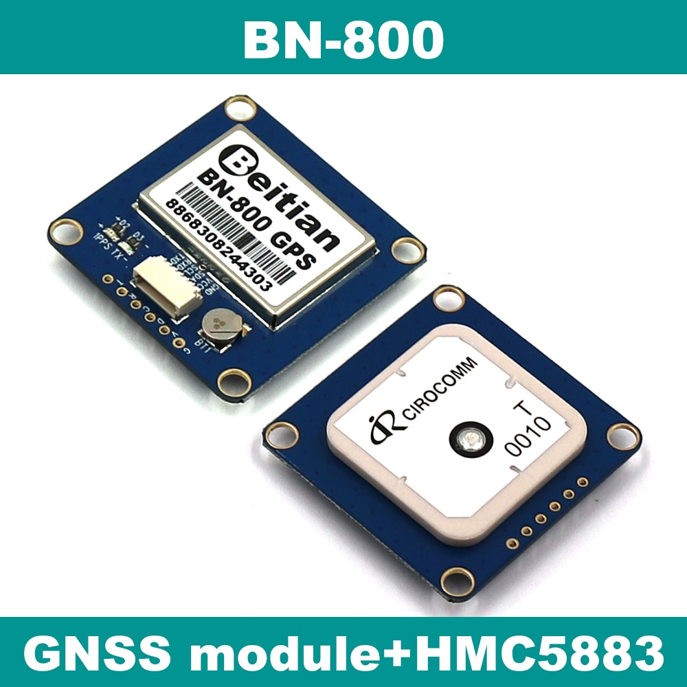 Beitian gnss módulo gps glonass duplo controle de vôo gps módulo bússola hmc5883l, amp2.6/pix4/pixhawk, BN-800