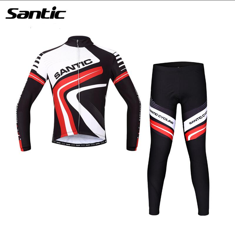 Santic ciclismo Jersey Invierno Polar térmico ciclismo ropa impermeable ciclismo reflectante chaqueta deportiva