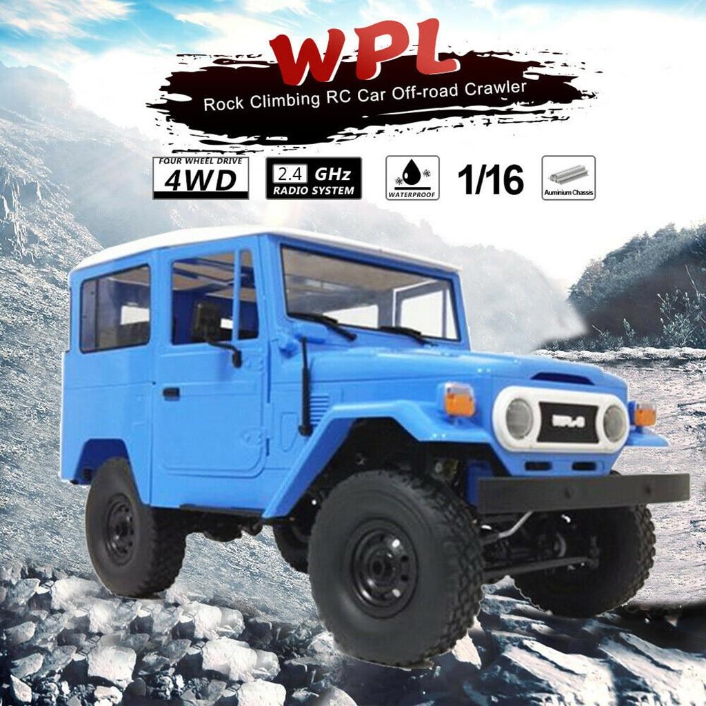 116 WPL C34 KIT todoterreno Control remoto camión cochecito Crawler Rc Rally coche Juguetes DIY modelo al aire libre juguetes control Modelo coche escalada