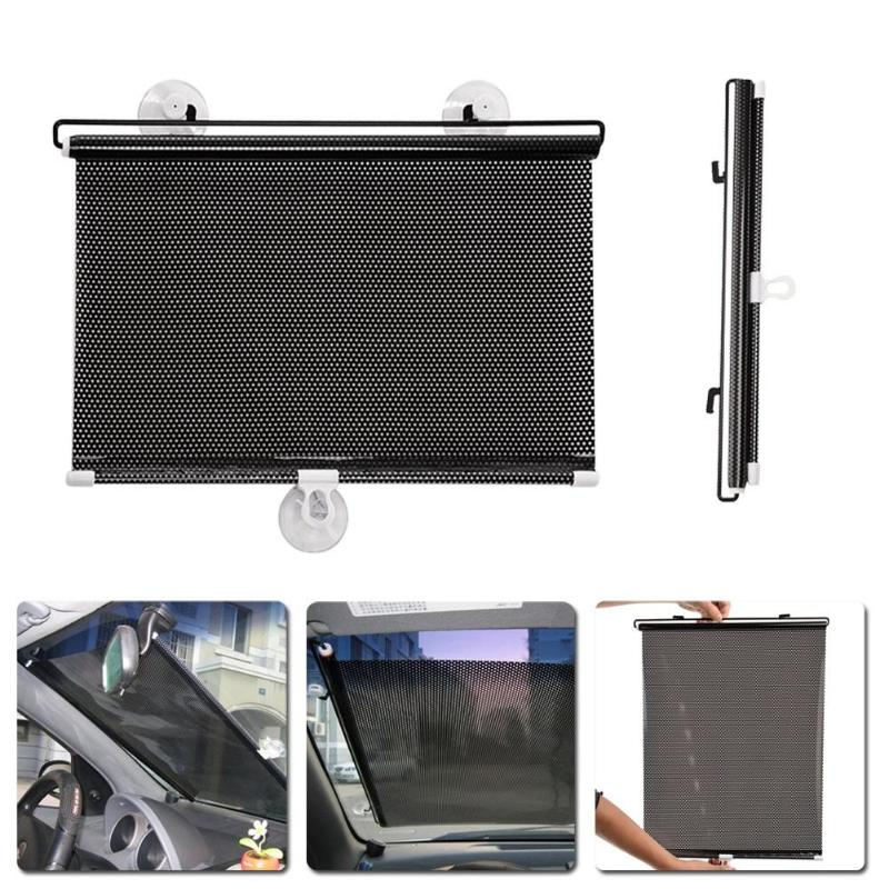 40x60cm Retractable Car Auto Side Window Sun Shade Curtain Windshield Sunshade Shield Cover Mesh Solar Protect Front Windshield