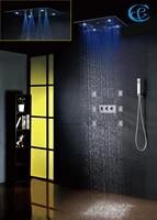 bathroom shower faucet 20 inch 100v240v ac led rain shower head easy installation contemporary bath shower set