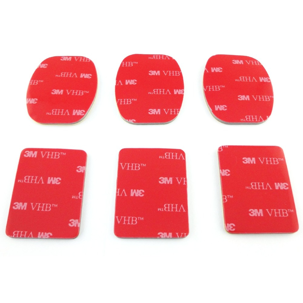 30pcs 3M Red Adhesive Sticker Double Faced Adhesive Tape For Sony Action Cam HDR AS20 AS15 AS100V AS30V AZ1 AS200V FDR-X1000V enlarge