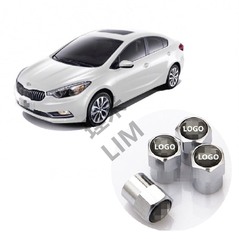 Wheel Tire Valve Caps Car Accessories for Kia Sportage QL Picanto Sorento Cerato Rio Optima Forte Soul Shuma Borrego K3 K5 K7