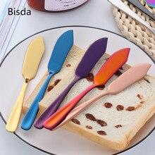 8 Colors Stainless Steel Butter Knife Cheese Dessert Jam Spreaders Gold Cream Butter Spreader Western Cutlery Breakfast Tool