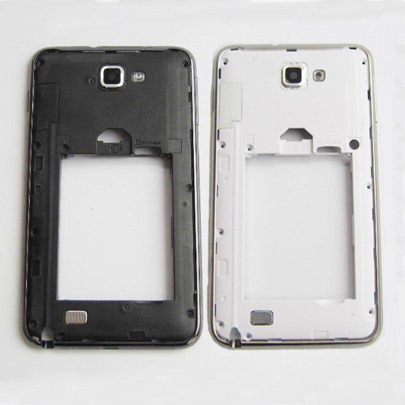 Nuevo bisel de Marco medio para Samsung Galaxy Note 1 N7000 i9220 piezas de repuesto con lente de cámara de cristal